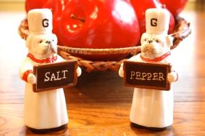 Adding a little salt and pepper!