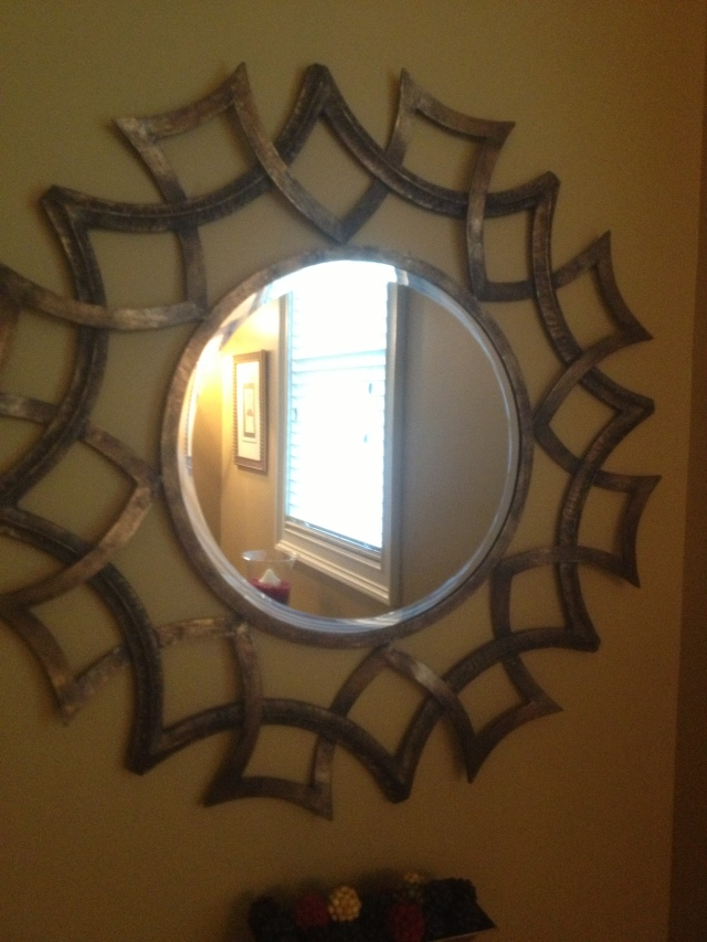 Mirror successfully hung.